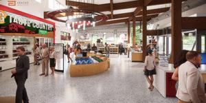 rendering of market interior
